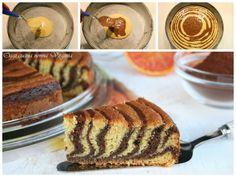 Torta zebrata cioccolato e arancia,Oggi cucina nonna Virginia