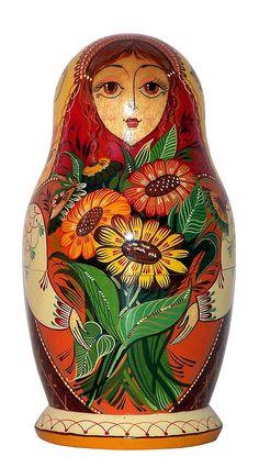 Матрёшка с Цветами.