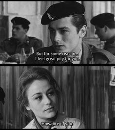 """i feel great pity for you"" alain delon rocco Luchino Visconti, Alain Delon, Romy Schneider, Classic Italian, Love Movie, Classic Movies, Timeless Beauty, Word Porn, Feeling Great"