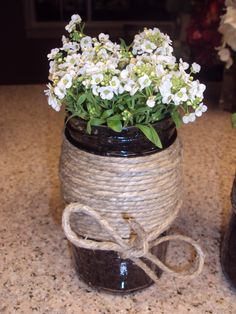 Or how about some twine? We could tie a big bow with it on the front?