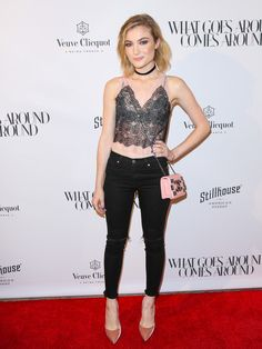 Skyler Samuels is seen attending the opening of 'What Goes Around Comes Around.'