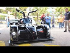 This is the Radical RXC Turbo 500, a race car fitted with a 3.5 liter V6 twin-turbo (Ford EcoBoost), this one being a developpement car, it makes around 530h...