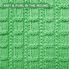 Textured rib stitch pattern for beginners. All you need to know is how to knit, purl and knitting in the round