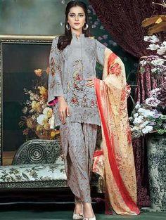 Latest Salwar Suits, Pakistani Suits, Print Chiffon, Sari, Casual, Prints, Cotton, Collection, Tops