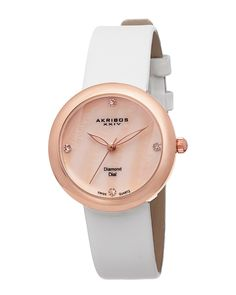 "Spotted this Akribos XXIV Women's ""Essential"" Diamond Watch on Rue La La. Shop (quickly!)."