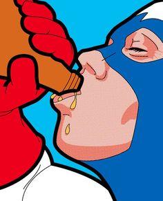 """La suite de la série """"Secret Life of Heroes"""" de l'illustrateurGreg Guillemin, qui met en scène la vie ordinaire des super-héros dans de superbes illustrati"""