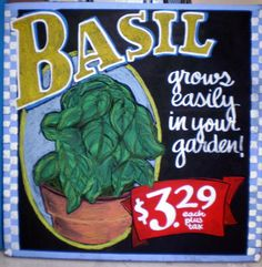 Trader Joe's Basil Sign by sueism1, via Flickr