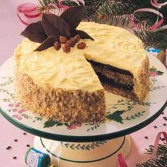 Hazelnut Mocha Torte Recipe- Recipes  This dessert is reminiscent of fine European cakes. I recently made it for my mother, who is German, and it brought back fond memories for her.