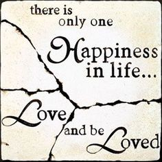 15 There is only one happiness in life love and be loved