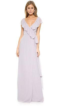 384373dd8b2 Joanna August Платье-халат Lolo с V-образным вырезом и оборками Affordable  Bridesmaid Dresses