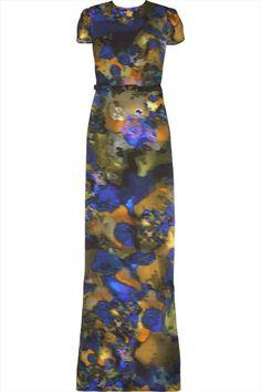 ErdemAurelia silk printed gown