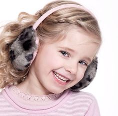Love this earmuff hairstyle for little girls!