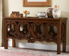 wood furniture in colonial style