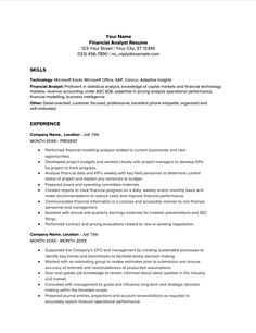 Financial Analyst How to Become One, Salary and Sample Resume - Job Affirmations