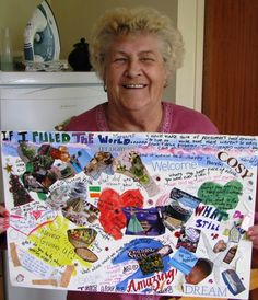 """I love the title of her board, """"If I ruled the world!"""""""