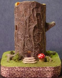 Stump House Project - 1:144 - made from toilet paper tube! -work with this it could be much cuter