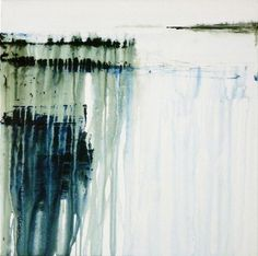 """Saatchi Online Artist: Gina Parr; Mixed Media 2013 Painting """"River meets sea SOLD"""""""