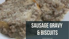 Channel your inner Southern cook by making sausage gravy and biscuits. Breakfast Toast, Morning Breakfast, Sausage Breakfast, Breakfast Recipes, Sausage Gravy And Biscuits, Sausage Gravy Recipe, Biscuit Recipe, Making Sausage, How To Make Sausage