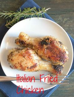 A delicious moist and tender chicken dish. Italian fried chicken / anitalianinmykitchen.com