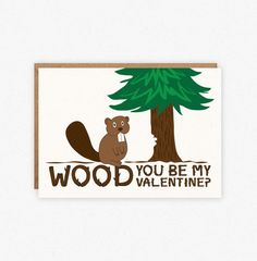 Valentine's Day Card - Woodland Card - Funny Valentine Card