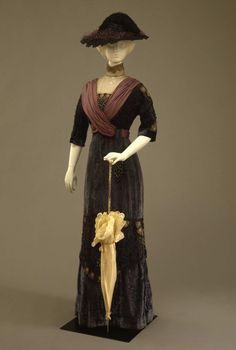 Fripperies and Fobs Dress, 1910's  From the Galleria del Costume di Palazzo Pitti via Europeana Fashion