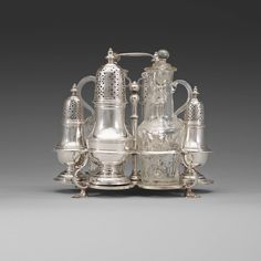 Cruet Set , Swedish , Silver 18th C.
