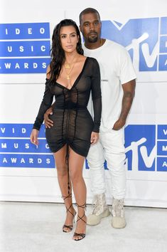 Kanye West and Kim Kardashian - Every Look from the 2016 MTV VMAs - Photos