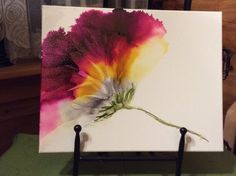 My first alcohol ink on canvas. Prepped canvas with Kilz2.