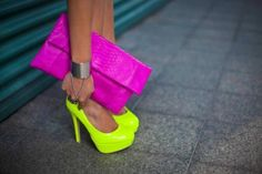 Neon shoes for spring-summer 2013 - Sweet!