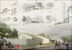 Gallery First Place in Contest Casa del Campesino New Gramalote / Colombia - 9 Architecture Panel, Architecture Graphics, Architecture Design, Architecture Diagrams, Presentation Board Design, Architecture Presentation Board, Architectural Presentation, Architectural Models, Architectural Drawings