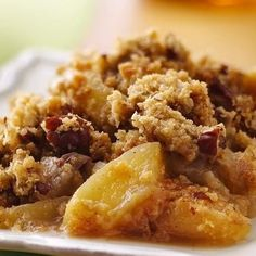 Apple-pecan crisp from an oatmeal cookie mix!