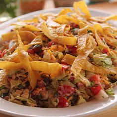 Get Cowboy Chopped Salad Recipe from Food Network Mexican Chopped Salad, Mexican Street Corn Salad, Chopped Salad Recipes, Summer Salad Recipes, Pasta Salad Recipes, Summer Salads, Kale Recipes, Avocado Recipes, Delicious Recipes
