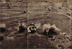 Le Schoenenbourg, reconstitution des bombardements