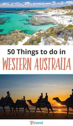 Planning a trip to Australia soon? Have a look at these 50 things to do in Western Australia. This guide to the area includes the best places to visit for your itinerary - info on the beach at Margaret River, biking trails, snorkeling spots, Perth skyline views, secret beaches and gorgeous bays, and all the must make stops on your Australia Road Trip.  Visit gorgeous lakes and waterfalls, eat at delicious restaurants, and more! #WA #WesternAustralia #Australia #AusTravel #yTravel #yTravelBlog