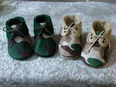 Army baby shoes. this would be so cute for my baby girl but in pink