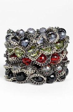 Nordstrom Bead & Chain Stretch Bracelet | Nordstrom