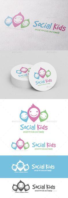 Social Kids Logo Template Vector EPS, AI. Download here: http://graphicriver.net/item/social-kids/10604968?ref=ksioks
