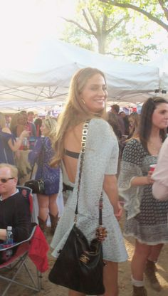 Fashion in The Grove, Ole Miss, gray dress, blue fashion, Oct. 18, 2014, Ole Miss vs TN, Hotty Toddy Fabulous