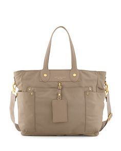 Preppy+Nylon+Eliz-A-Baby+Diaper+Bag,+Beige++by+MARC+by+Marc+Jacobs+at+Neiman+Marcus.