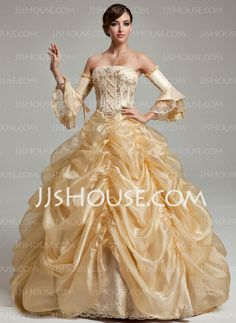 Quinceanera Dresses - $260.49 - Ball-Gown Strapless Floor-Length Organza Quinceanera Dress With Ruffle Beading Sequins (021017537) http://jjshouse.com/Ball-Gown-Strapless-Floor-Length-Organza-Quinceanera-Dress-With-Ruffle-Beading-Sequins-021017537-g17537