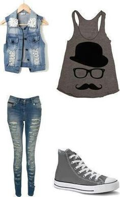 Mustache outfit