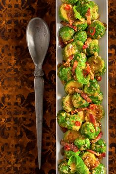 Recipe: Brussels Sprouts With Bacon and Chiles || Photo: Francesco Tonelli for The New York Times