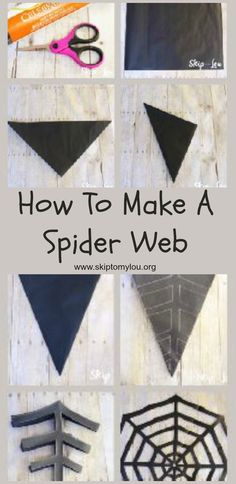 How to make a paper spider web! Easy step by step tutorial that makes for a fun activity with kids and cute Halloween decoration #halloween #spiderweb