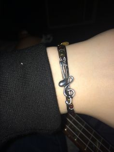 Here's my never take it off bracelet. It's I just sing along from the Nick Santino line. I'm about to add a few more to my collection. I'll probably have an update soon. LOOK I LOVE THEM SO MUCH FIGHT ME