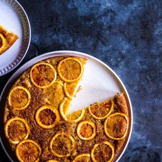 Be sure to invert the cake after it's baked while it's still warm; if you wait too long, the oranges will stick to the pan.