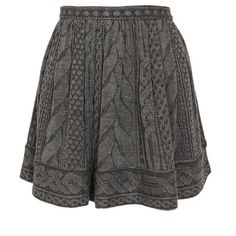 Opening Ceremony Wool-Blend Cable Knit Mini-Skirt ($360) ❤ liked on Polyvore featuring skirts, mini skirts, bottoms, saias, faldas, grey mini skirt, gray mini skirt, opening ceremony skirt, mid thigh skirt and short grey skirt