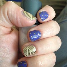 Jamberry Gold Crisscross and Icy Berry Polka