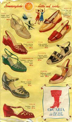 """Reklam för skor från Oscaria """"Sommarglada - lätta och svala"""""""
