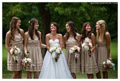 JENNIFER YOUR JR BRIDES MAIDS WOULD BE CUTE IN SOME SIMPLE LIKE THIS DRESS - LOOKS LIKE A LINEN OR RAW SILK