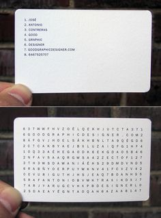 Word Search Business Card